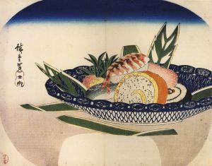 763px-hiroshige_bowl_of_sushi1