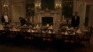 setting the table Gosford Park
