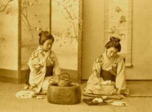 Tea and a smoke 1890s Japan